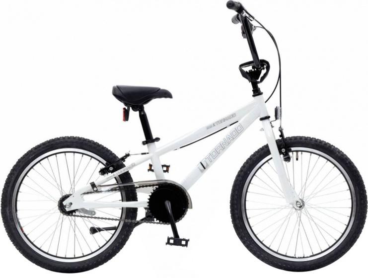 Bike Fun Cross Tornado 20 Inch 40 cm Junior Terugtraprem Wit