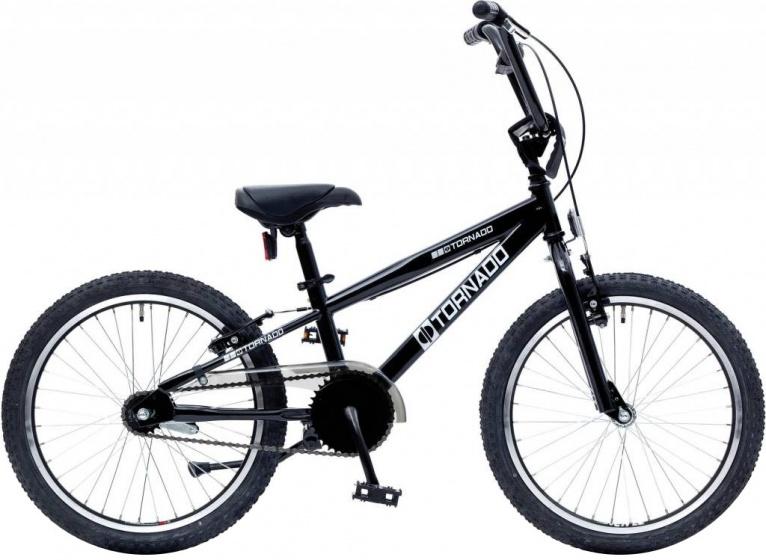 Bike Fun Cross Tornado 20 Inch 26 cm Junior Terugtraprem Zwart