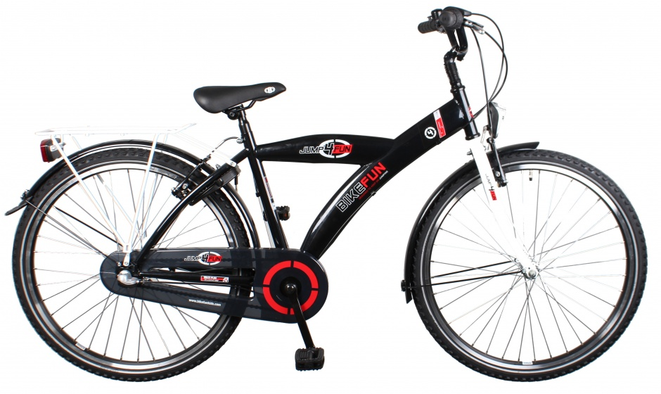 Bike Fun Jump4Fun 26 Inch 43 cm Jongens 3V Terugtraprem Zwart