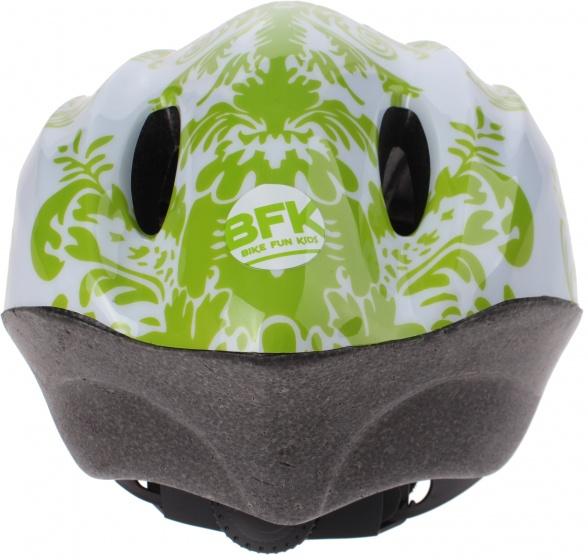 Bike Fun kinderhelm Fun meisjes groen/wit maat 50/56 cm