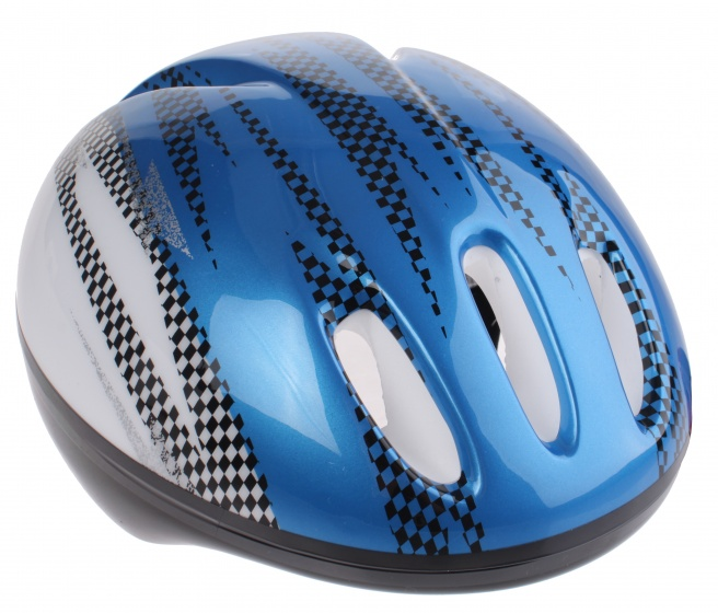 Bike Fun kinderhelm junior blauw/wit maat 50/54 cm