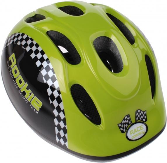 Bike Fun kinderhelm Rookie junior groen maat 50/56 cm