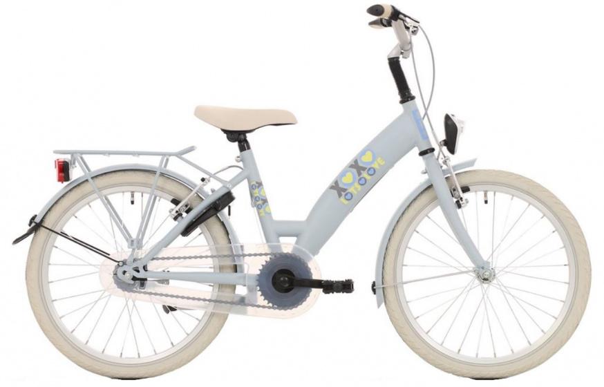 Bike Fun Lots of Love 20 Inch 30 cm Meisjes 3V V Brakes Lichtblauw/Grijs