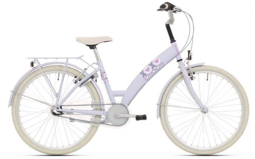 Bike Fun Lots of Love 26 Inch 43 cm Meisjes 3V Terugtraprem Lichtblauw