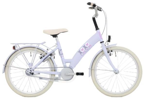 Bike Fun Lots of Love 20 Inch 35 cm Meisjes Terugtraprem Paars