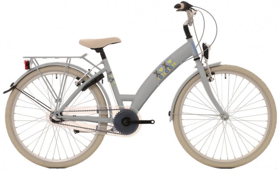 Bike Fun Lots of Love 24 Inch 39 cm Meisjes 3V V Brakes Lichtbruin/Grijs