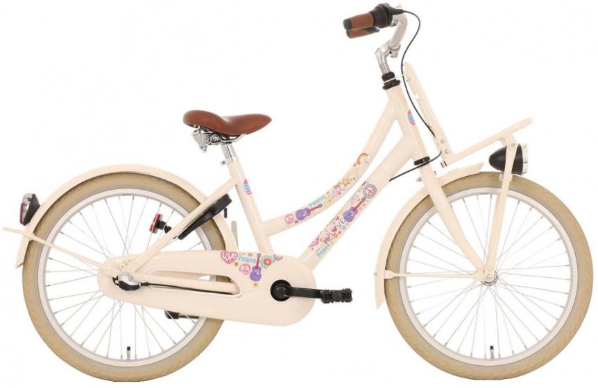 Bike Fun Love&Peace 20 Inch 30 cm Meisjes 3V V Brakes Cr�me/Multicolor