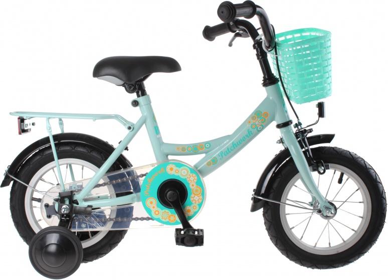 Bike Fun Patchwork 12 Inch Meisjes Terugtraprem Turquoise