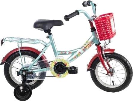 Bike Fun Poppy 12 Inch Meisjes Terugtraprem Lichtblauw
