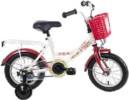 Bike Fun Poppy 12 Inch Meisjes Terugtraprem Wit