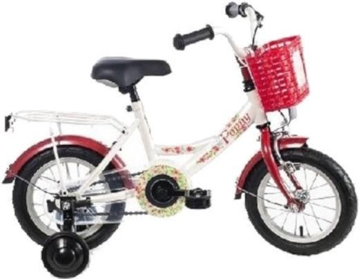 Bike Fun Poppy 12 Inch 21,5 cm Meisjes Terugtraprem Wit