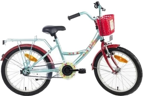 Bike Fun Poppy 16 Inch 22 cm Meisjes Terugtraprem Lichtblauw