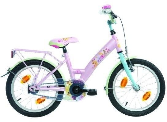 Bike Fun Princess 16 Inch 22 cm Jongens Terugtraprem Roze/Mintgroen