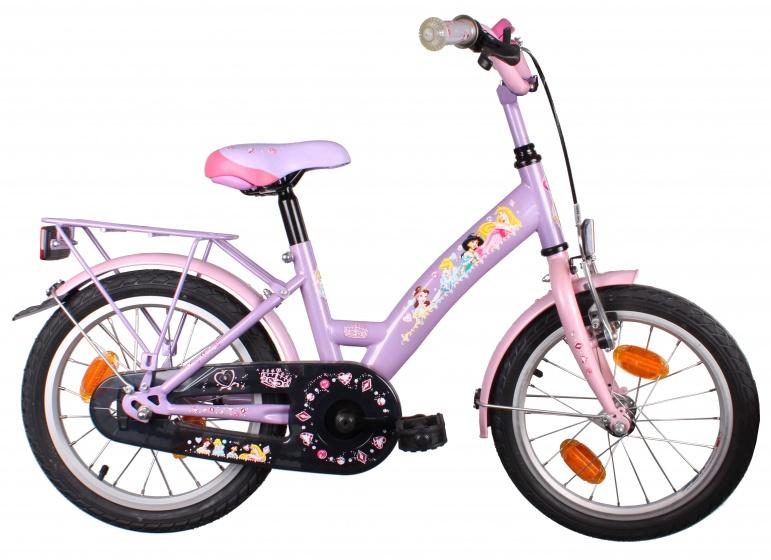 Bike Fun Princess 16 Inch 22 cm Meisjes Terugtraprem Roze/Paars