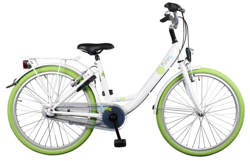 Bike Fun - Pure 24 Inch 38 Cm Meisjes 3v Terugtraprem Wit