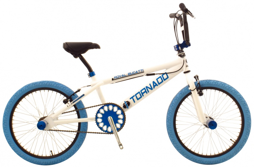 Bike Fun Tornado 20 Inch 55 cm Junior V Brake Wit/Blauw