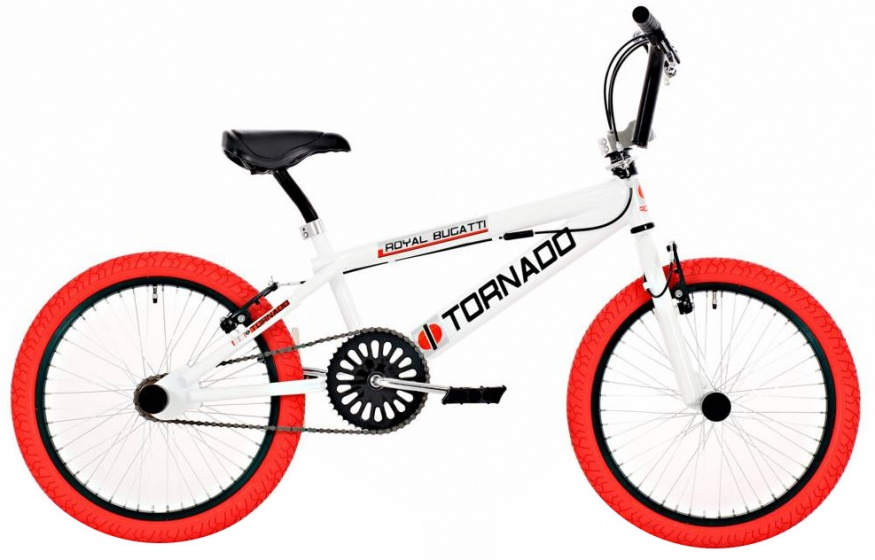 Bike Fun Tornado 20 Inch 55 cm Junior V Brake Wit/Rood