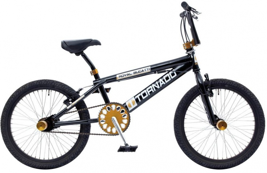 Bike Fun Tornado 20 Inch 55 cm Junior V Brake Zwart