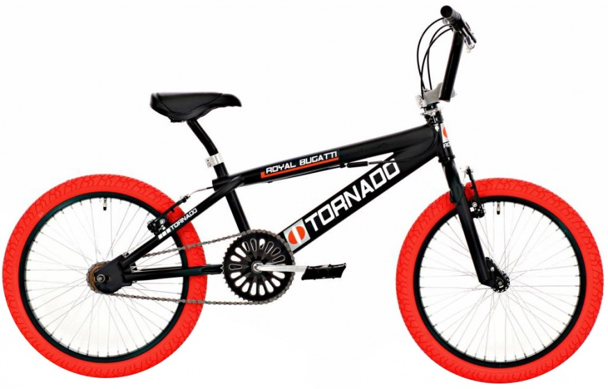 Bike Fun Tornado 20 Inch 55 cm Junior V Brake Zwart/Rood