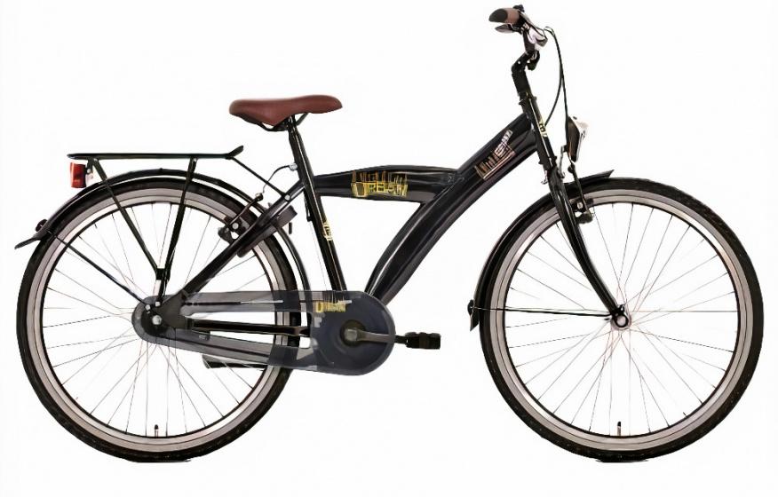 Bike Fun Urban 24 Inch 39 cm Jongens 3V Terugtraprem Barok Zwart