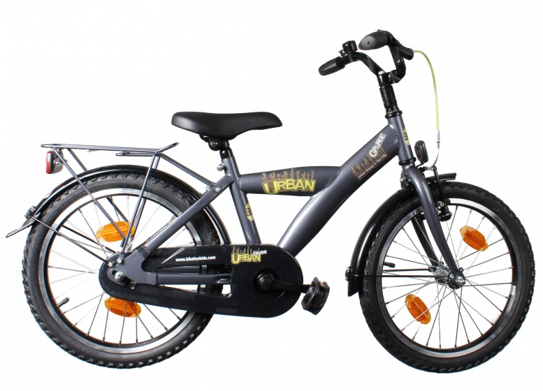 Bike Fun Urban Grunge 18 Inch 29 cm Jongens V Brake Titanium