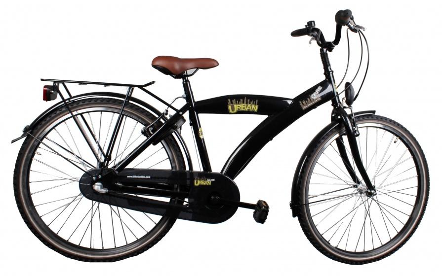 Bike Fun Urban Grunge 26 Inch 43 cm Jongens 3V V Brake Zwart