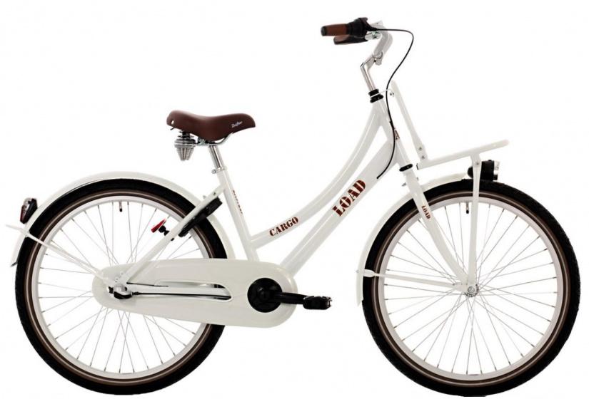 Bike Life Load 26 Inch 43 cm Meisjes 3V V Brakes Wit/Bruin