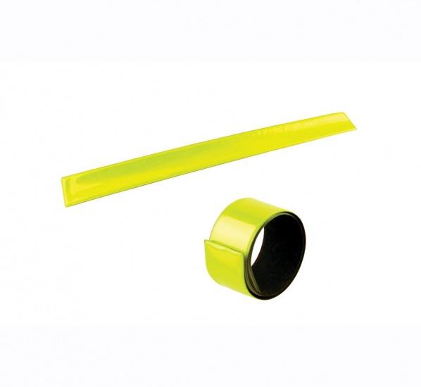 4 Act Veiligheidsarmband Slap Wrap Geel 34 cm