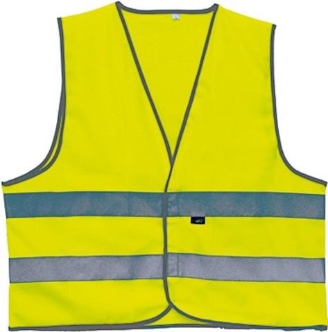 4 Act Veiligheidshesje 2 Strepen Unisex Geel Maat L