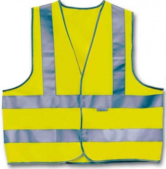 4 Act Veiligheidshesje 3 Strepen Unisex Geel Maat XL