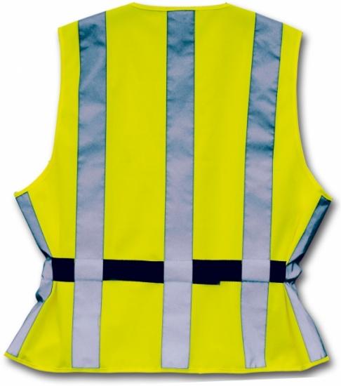 4 Act Veiligheidshesje 7 Strepen Unisex Geel Maat XL