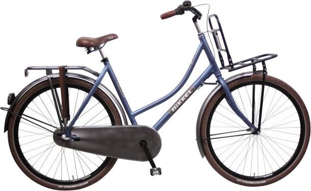 Bikkel BT 28 Inch 57 cm Dames 3V Terugtraprem Donkerblauw/Grijs