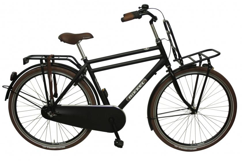 Bikkel BT 28 Inch 61 cm Heren 3V Terugtraprem Matzwart