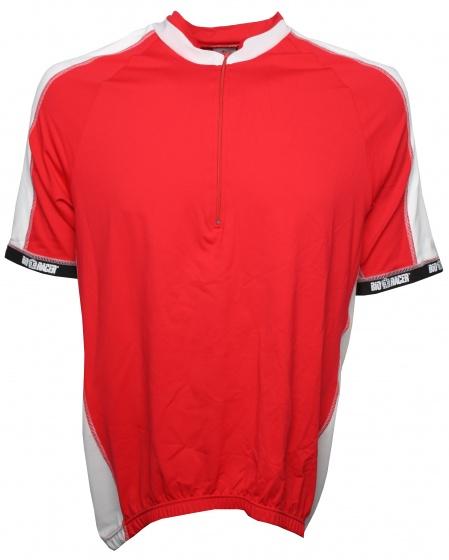 Bioracer fietsshirt heren rood/wit maat XXL