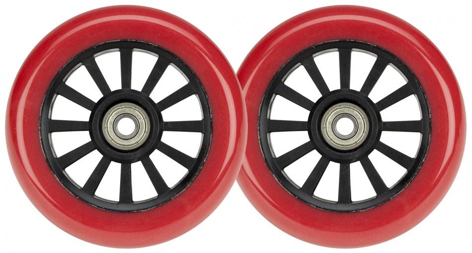 Black Dragon Stunt Scooter wielen 2 stuks 100 mm rood/zwart