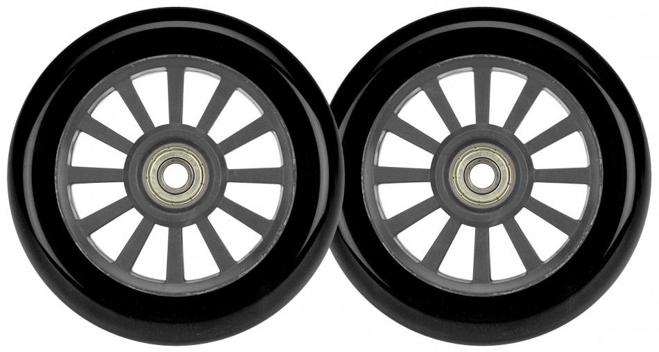 Black Dragon Stunt Scooter wielen 2 stuks 100 mm zwart/grijs