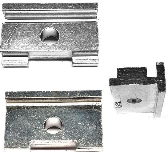 BLS adapterplaat standaard aluminium smal/breed staa lzilver