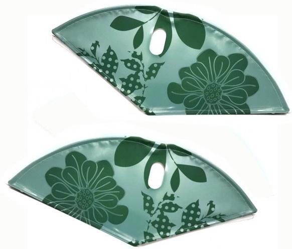 BLS jasbeschermerset lakdoek 28 inch 57 cm bloemen groen