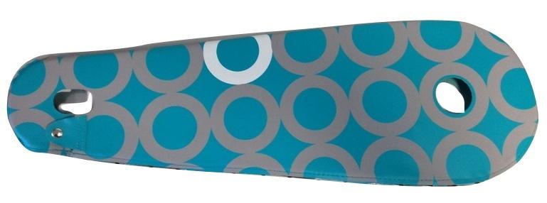 BLS kettingkast lakdoek 28 inch 68,5 x 22 cm turquoise
