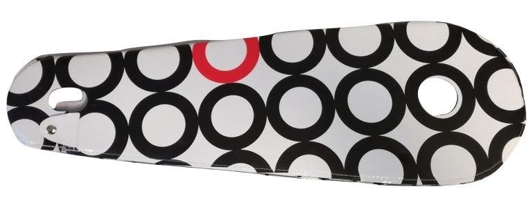 BLS kettingkast lakdoek 28 inch 68,5 x 22 cm wit/zwart