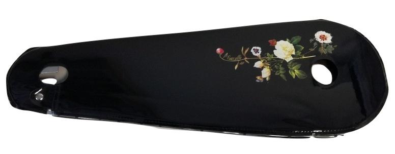 BLS kettingkast lakdoek 28 inch 68,5 x 22 cm zwart