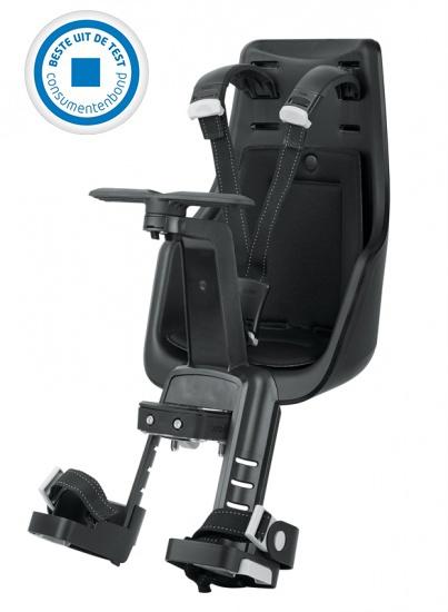 Bobike Duo Exclusive Mini fietszitje voor Urban Black