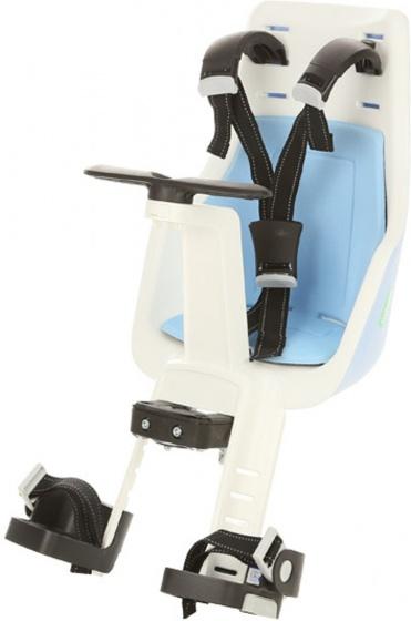 Bobike Exclusive Mini fietszitje voor blauw/wit