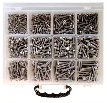 Bofix Assortimentbox 12 vakken zeskantbouten RVS (218100)