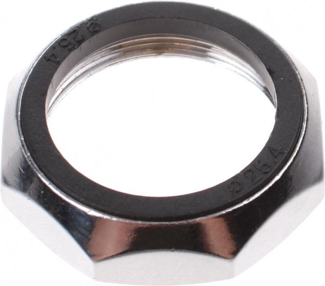 Bofix balhoofdbovenmoer open 1 1/8'' aluminium zwart 6 stuks
