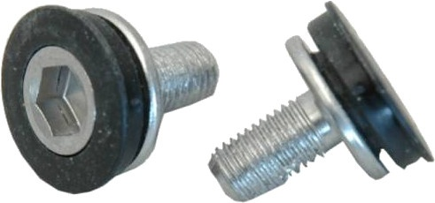 Bofix crankbouten trapas M8 x 15 mm zwart/zilver 12 stuks