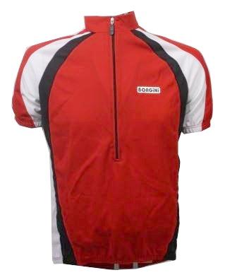 Borgini Fietsshirt Twist korte mouwen heren rood maat XL