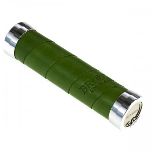Brooks handvat Slendergrip leer 130 mm groen per stuk
