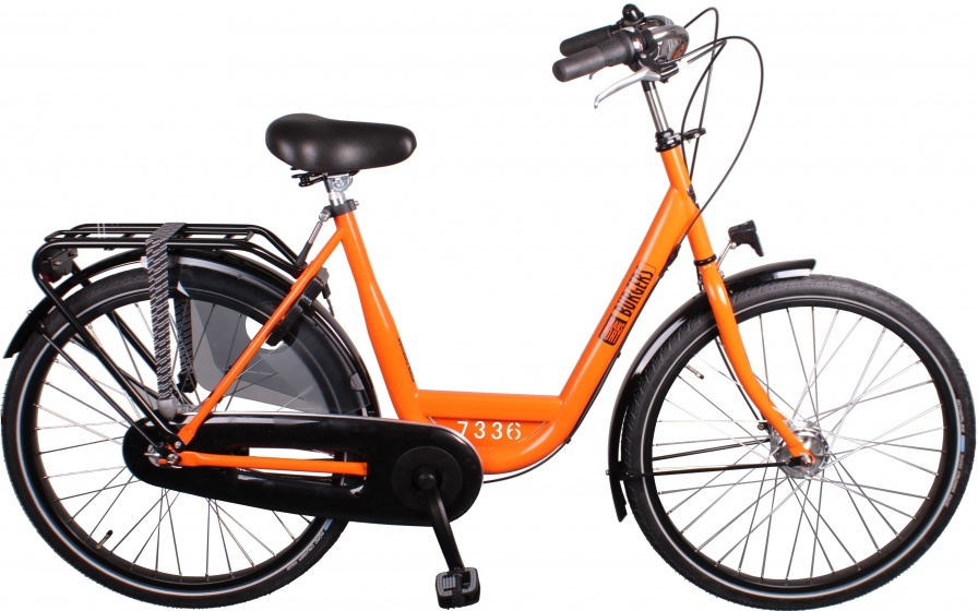 Burgers ID Personal 26 Inch 50 cm Dames 3V Rollerbrakes Oranje