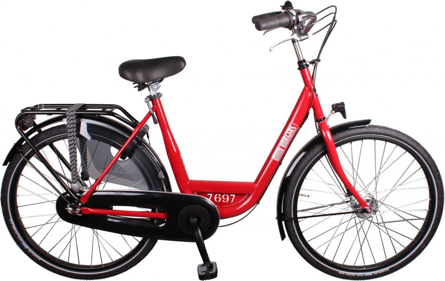Burgers ID Personal 26 Inch 50 cm Dames 7V Rollerbrakes Rood